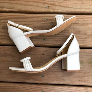 ALEXANDRE BIRMAN White Vicky Knot Leather Sandals